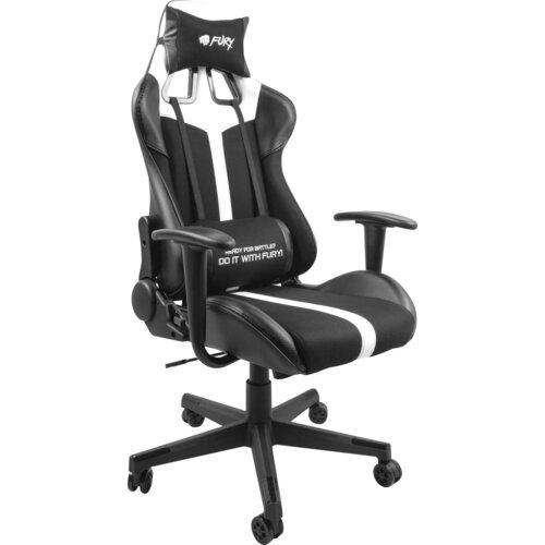 Fotel FURY Avenger XL Czarno-biały