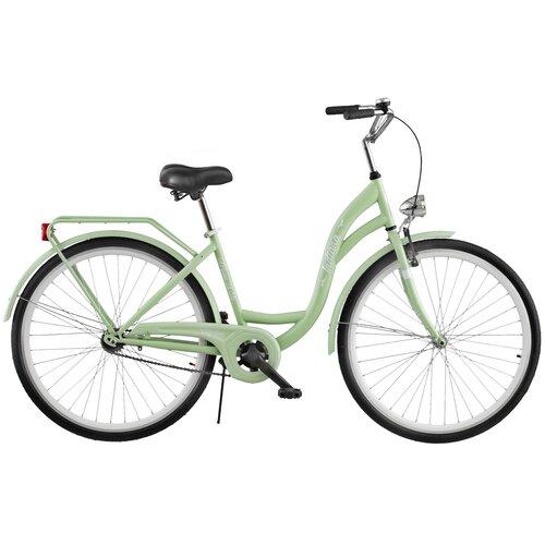Rower miejski INDIANA Moena S1B 28 cali damski Miętowy
