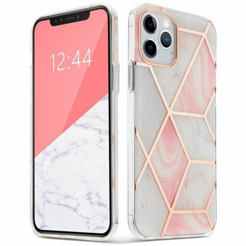 Etui TECH-PROTECT AirMarble do Apple iPhone 12/12 Pro Różowy