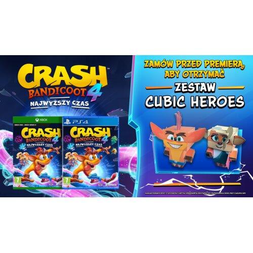 Zestaw papierowych figurek Crash Bandicoot 4