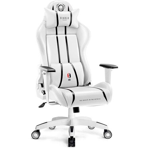 Fotel DIABLO X-ONE 2.0 King Size Biało-czarny