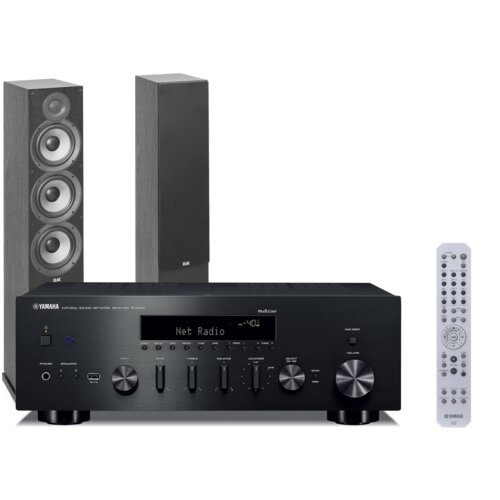 Zestaw stereo YAMAHA R-N602 + ELAC Debut F6.2 Czarny