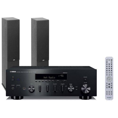 Zestaw stereo YAMAHA MusicCast R-N602 Czarny + ELAC Debut 2.0 F5.2 Czarny