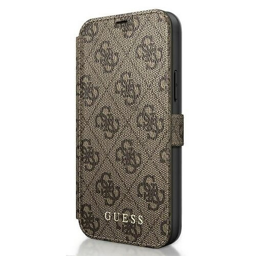 Etui GUESS 4G Charms Collection do Apple iPhone 12 mini Brązowy