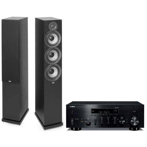 Zestaw stereo YAMAHA MusicCast R-N803D Czarny + ELAC Debut 2.0 F6.2 Czarny