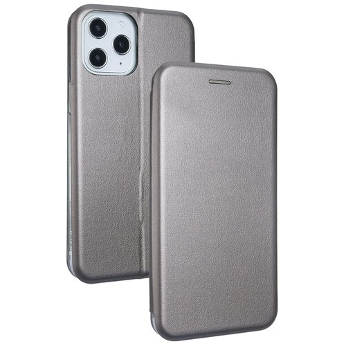 Etui BOOK MAGNETIC do Apple iPhone 12 Pro Max Stalowy