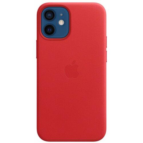 Etui APPLE Leather Case MagSafe do iPhone 12 Mini Czerwony