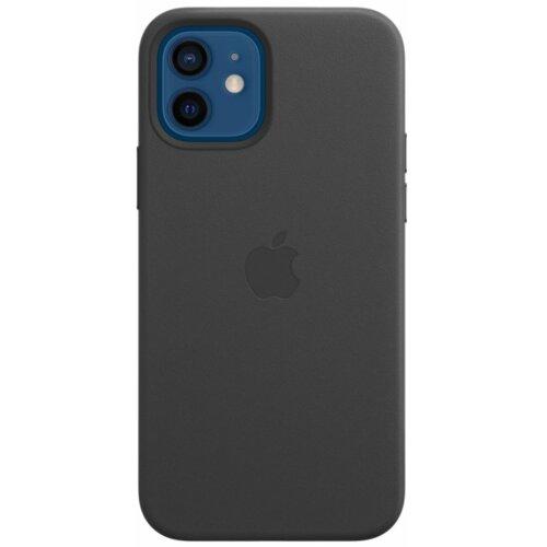 Etui APPLE Leather Case MagSafe do iPhone 12/12 Pro Czarny