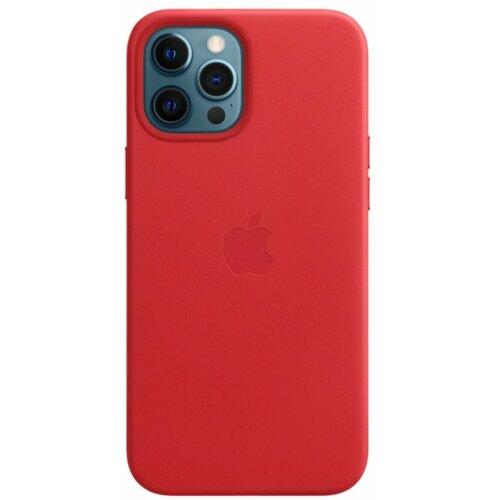 Etui APPLE Leather Case MagSafe do iPhone 12 Pro Max Czerwony