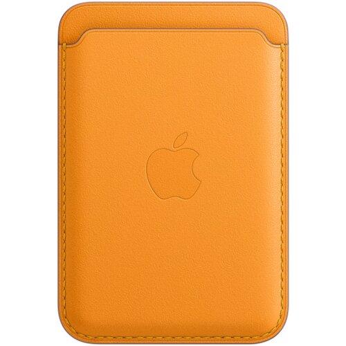 Skórzany portfel APPLE MagSafe do Apple iPhone 12 Żółty