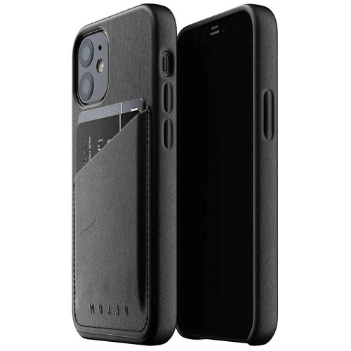 Etui MUJJO Full Leather Wallet Case do Apple iPhone 12 Mini Czarny