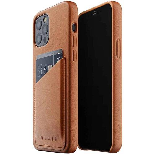 Etui MUJJO Full Leather Wallet Case do Apple iPhone 12/12 Pro Brązowy
