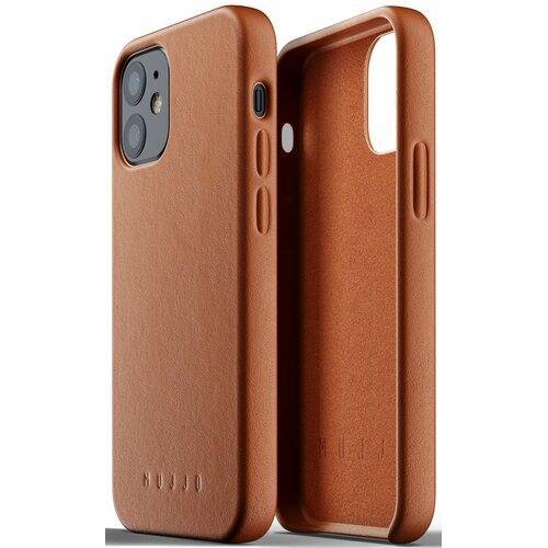 Etui MUJJO Full Leather Case do Apple iPhone 12 mini Brązowy