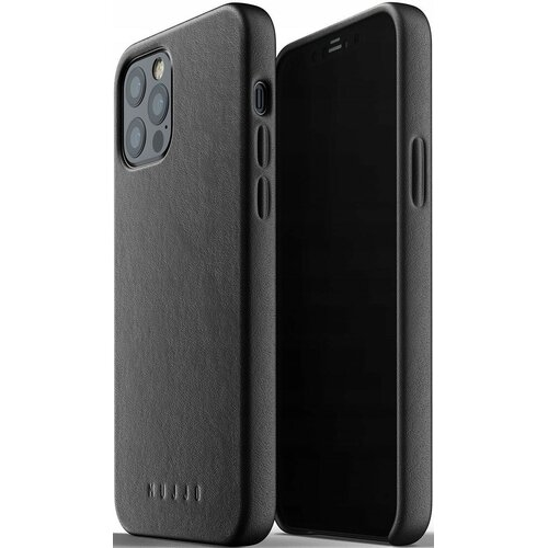 Etui MUJJO Full Leather Case do Apple iPhone 12/12 Pro Czarny