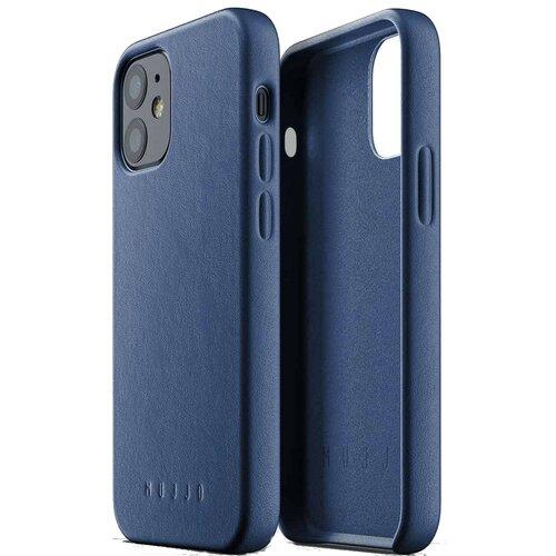 Etui MUJJO Full Leather Case do Apple iPhone 12 mini Niebieski