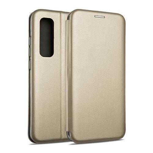 Etui BOOK MAGNETIC do Xiaomi Mi Note 10 Lite Złoty