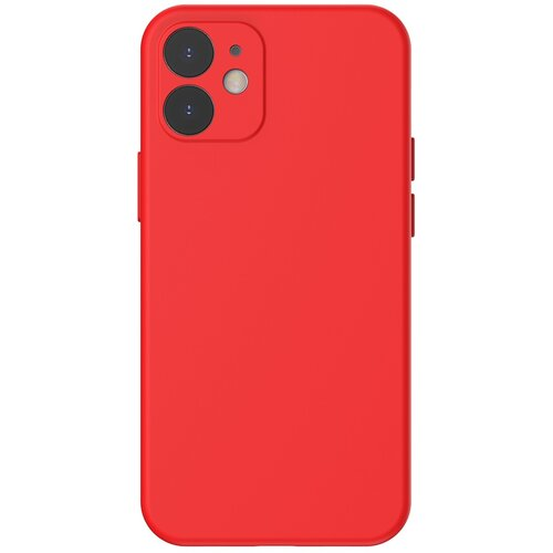 Etui BASEUS Liquid Silica Gel Case do Apple iPhone 12 Mini Czerwony