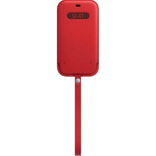 Etui Leather APPLE z MagSafe do Apple iPhone 12/12 Pro Czerwony
