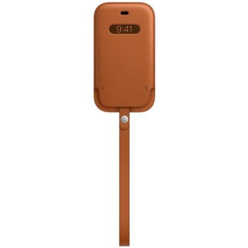 Etui APPLE Leather Case MagSafe do iPhone 12 Mini Naturalny brąz
