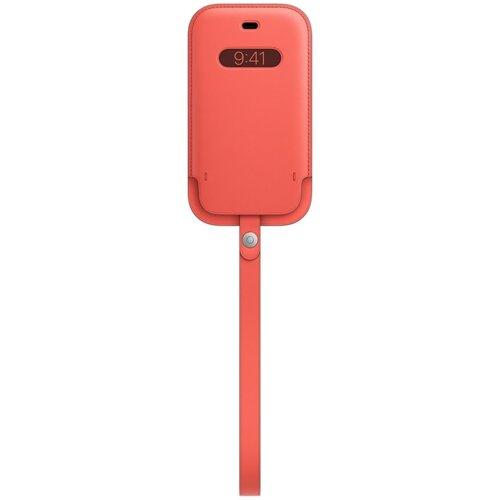 Etui APPLE Leather z MagSafe do iPhone 12 Mini Różowy cytrus