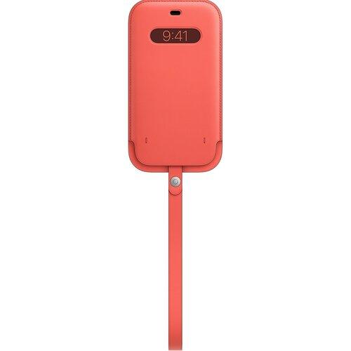 Etui Leather APPLE z MagSafe do Apple iPhone 12 Pro Max Różowy cytrus