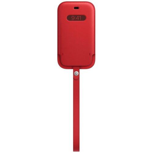 Etui APPLE Leather z MagSafe do iPhone 12 Mini Czerwony
