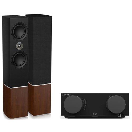 Zestaw stereo CYRUS One Czarny + TANNOY Platinum F6 Bordowy