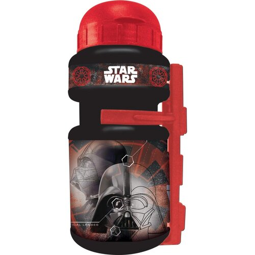 Bidon DISNEY Star Wars 350ml Czarno-czerwony + Uchwyt