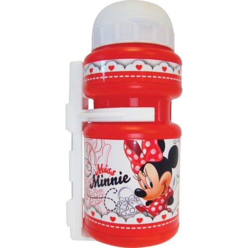 Bidon DISNEY Minnie 350ml Biało-czerwony + Uchwyt