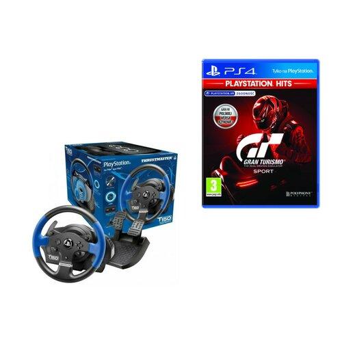 Kierownica THRUSTMASTER T150 (PS4) + Gran Turismo Sport Gra PS4 (Kompatybilna z PS5)