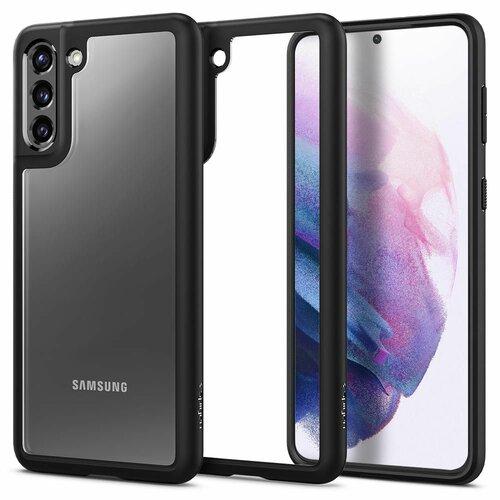 Etui SPIGEN Ultra Hybrid do Samsung Galaxy S21 Czarno-przezroczysty