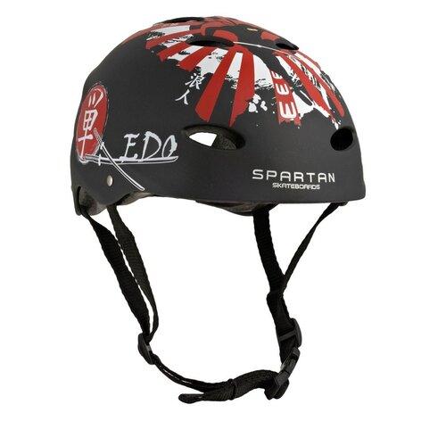 Kask rowerowy SPARTAN Fire Czarny dla Dzieci (rozmiar S)
