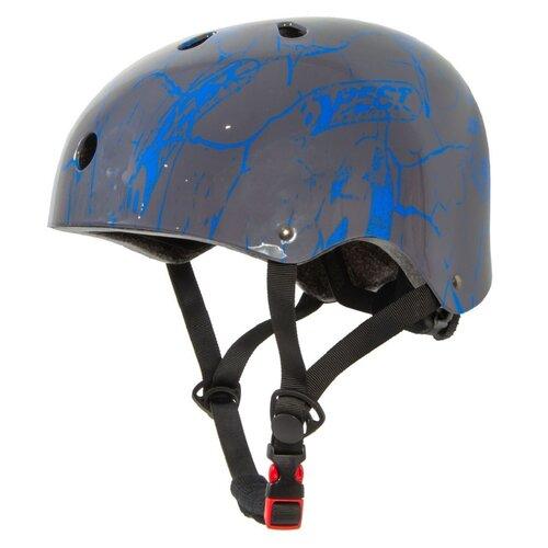Kask rowerowy BEST SPORTING 302061 Szaro-niebieski (rozmiar L)