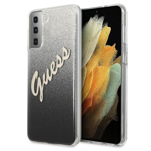 Etui GUESS Glitter Gradient Script do Samsung Galaxy S21 Czarny