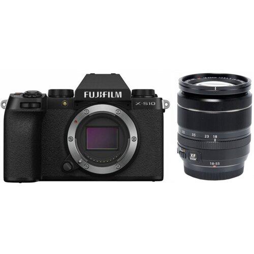 Aparat FUJIFILM X-S10 Czarny + Obiektyw XF 18-55mm Kit
