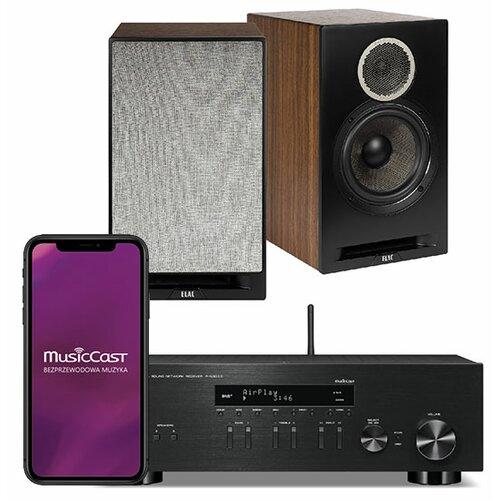Zestaw stereo YAMAHA MusicCast R-N303D Czarny + ELAC Debut Reference B6 Czarny