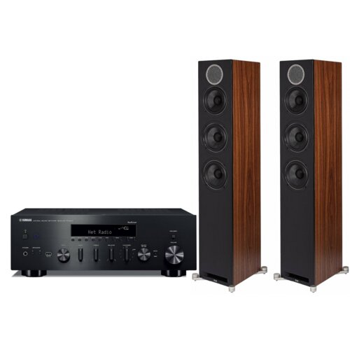 Zestaw stereo YAMAHA R-N602 + ELAC Debut Reference DFR-52 Orzech