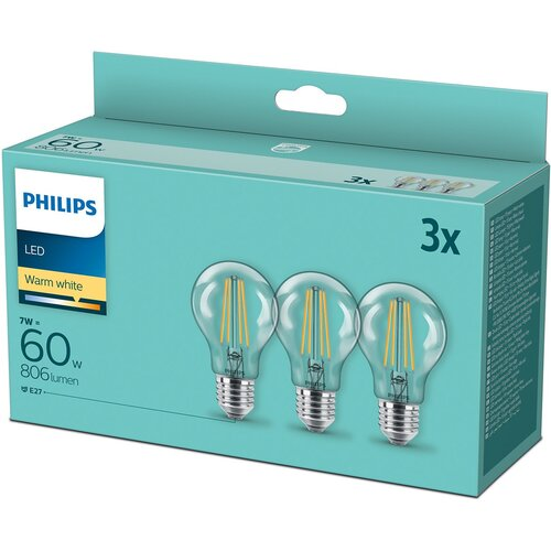 Żarówka LED PHILIPS 929001387339 7W E27 (3 szt.)