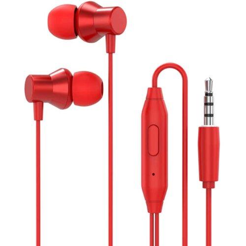 Słuchawki dokanałowe LENOVO HF130 Czerwony
