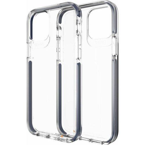 Etui GEAR4 Piccadilly do Apple iPhone 12/12 Pro Przezroczysty-niebieski