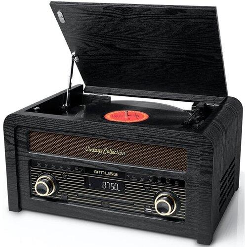 Gramofon MUSE MT-115 W Czarny