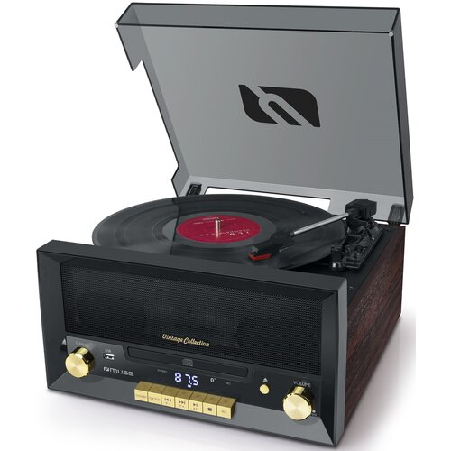 Gramofon MUSE MT-112 W Czarny
