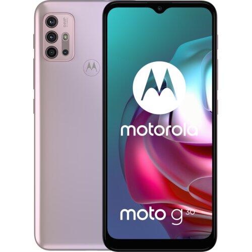 "Smartfon MOTOROLA G30 6/128GB 6.5"" 90Hz Różowy PAML0023PL"