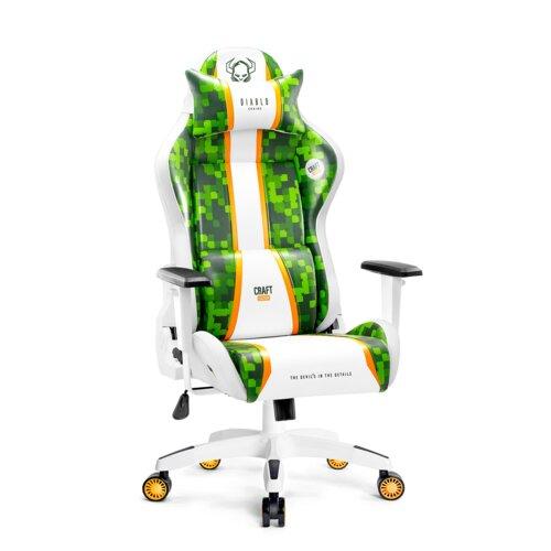 Fotel DIABLO X-ONE Craft (L) Biało-zielony