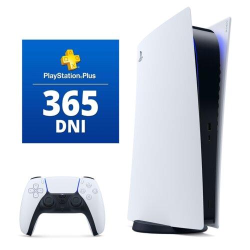 Konsola SONY PlayStation 5 Digital + PlayStation Plus 365 dni