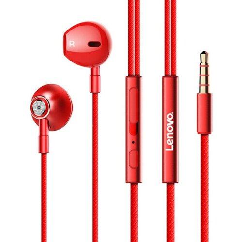 Słuchawki douszne LENOVO HF140 Czerwony