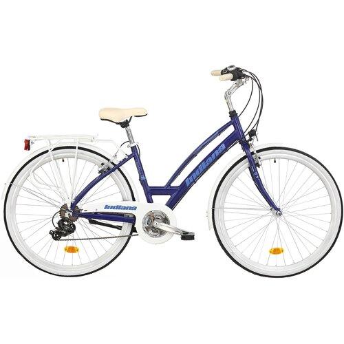 Rower miejski INDIANA Brawa 21B 28 cali damski Granatowy