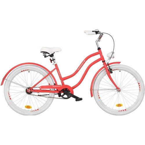 Rower młodzieżowy INDIANA X-Cruiser Jr 24 cale dla dziewczynki Jasnoczerwony