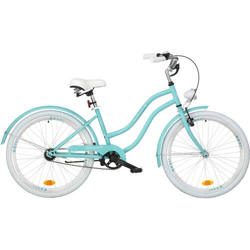 Rower młodzieżowy INDIANA X-Cruiser Jr 24 cale dla dziewczynki Lazurowy