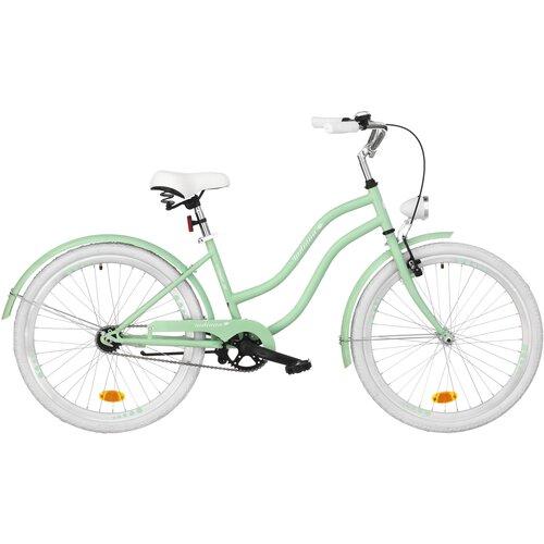 Rower młodzieżowy INDIANA X-Cruiser Jr 24 cale dla dziewczynki Miętowy